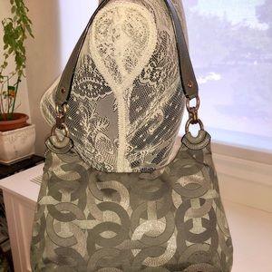 Coach Bags - Coach Kristin Signature Gray and Silver Handbag